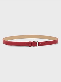 Saffiano Inlay Belt