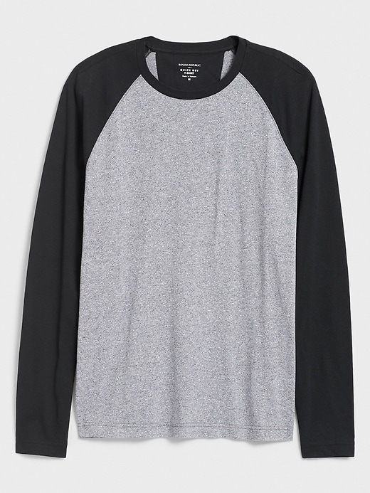 Quick Dry Long Sleeve Colorblock T Shirt by Banana Repbulic