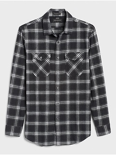 Standard-Fit Heavyweight Flannel Shirt