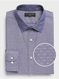 Slim-Fit Non-Iron Yarn-Dye Shirt