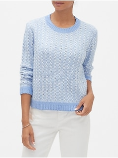 Cozy Textured Stitch Crew-Neck Sweater