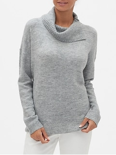 Petite Cozy Cowl-Neck Sweater