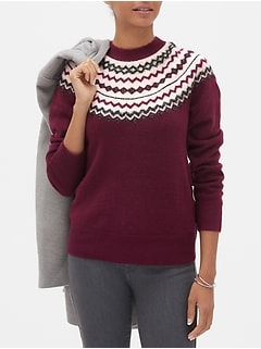 Cozy Fair Isle Crew-Neck Sweater
