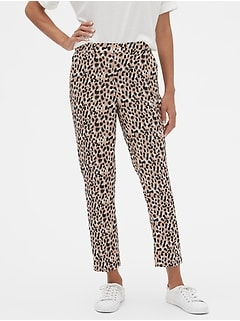 Petite Hayden Pull-On Animal Print Ankle Pant
