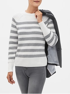 Chunky Stripe Crew-Neck Sweater