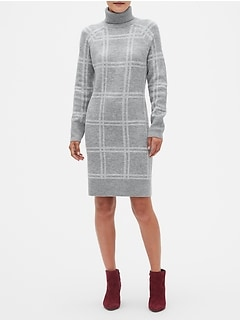 Petite Plaid Sweater Dress