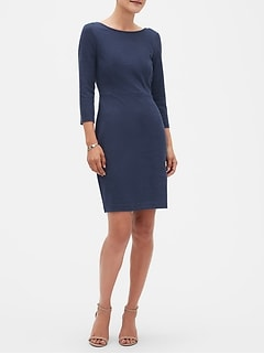 Scoopback Sheath Dress