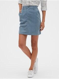 Cord A-Line Skirt