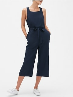 Petite Rounded Square Neck Jumpsuit