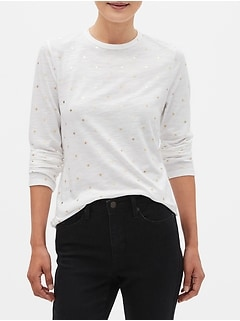 Printed Long-Sleeve T-Shirt