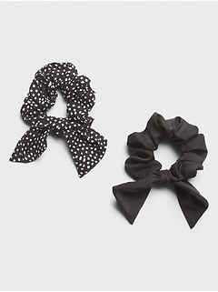 Dalmatian Dot Bow Scrunchie (2 Pack)