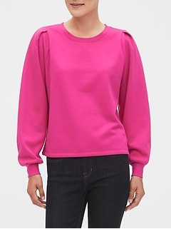 Box Pleat Fleece Sweatshirt