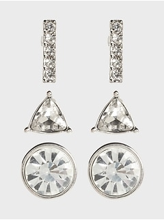 Pave Party Earrings Multipack