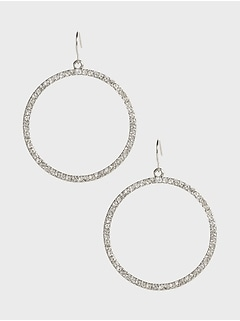 Double Circle Pave Earrings