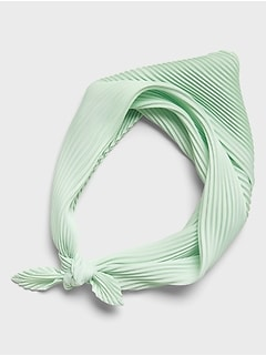 Misty Jade Pleated Neckerchief