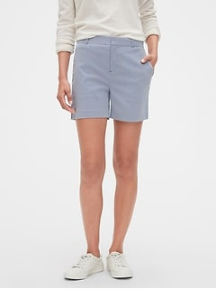 Petite Tailored Corded Stripe Shorts - 5 inch inseam