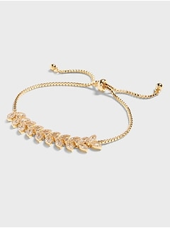 Leaf Garland Pull Through Bracelet