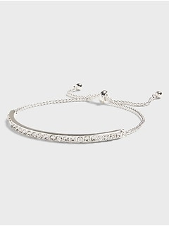 Pave Bar Pull Through Bracelet