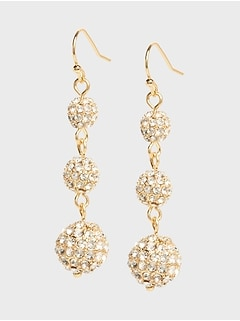 Triple Pave Drop Earrings