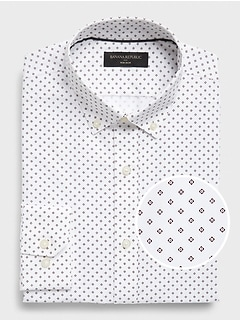 Slim-Fit Non-Iron Print Shirt
