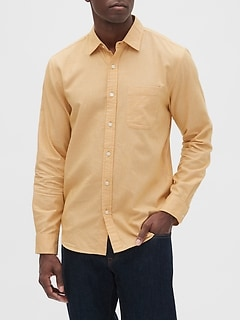 Slim-Fit Untucked Jaspe Shirt