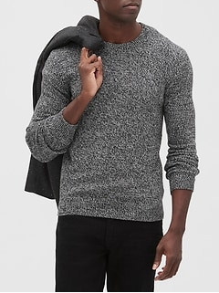 Marled Crew-Neck Sweater