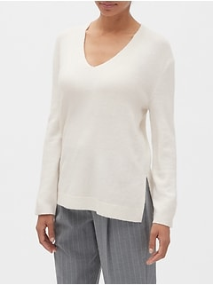 Petite Cozy V-Neck Sweater