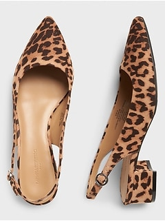 Animal Print Block-Heel Slingback Pump
