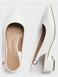 Bone Slingback Pump