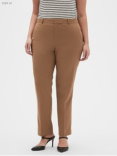 Washable Curvy Ryan Camel Suit Trouser
