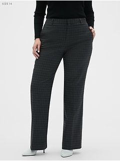 Washable Curvy Logan Charcoal Windowpane Suit Trouser