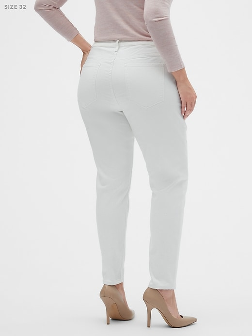Curvy Fit Sculpt Stain Resistant White Skinny Jean