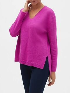 Bright Cozy V-Neck Sweater
