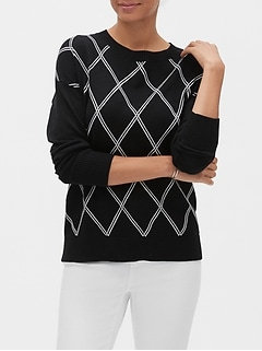 Argyle Crew-Neck Sweater