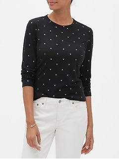 Petite Printed Long-Sleeve T-Shirt