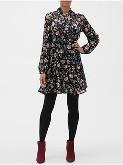Floral Print Swing Shift Dress