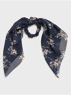Bouquet Floral Scarf Scrunchie