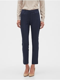 Curvy Sloan Striped Slim Ankle Pant