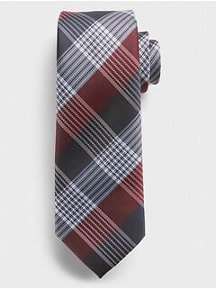 Plaid Print Tie