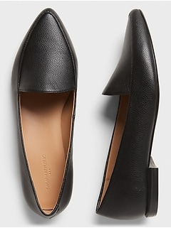 Textured Pointed Toe Loafer