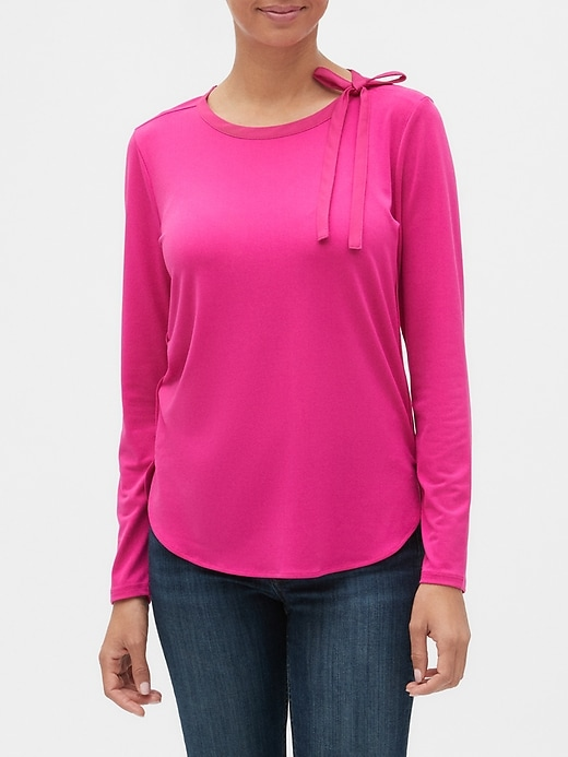Banana Republic Crepe Tie-Neck Top
