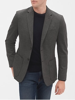 Slim-Fit Grey Soft Sport Coat