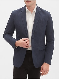 Slim-Fit Blue Stripe Sport Coat