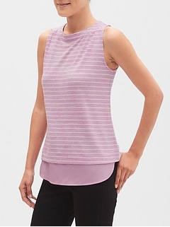 Striped LuxeSpun Boatneck Tank
