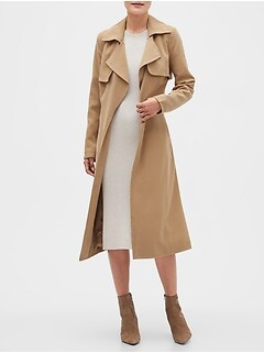 Petite Long Soft Trench Coat
