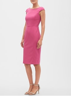 Petite Cap-Sleeve Sheath Dress