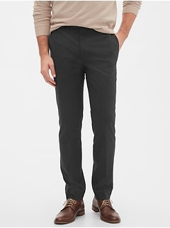 Extra Slim-Fit Grey Windowpane Trouser