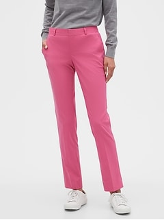 Washable Ryan Pink Slim Suit Pant