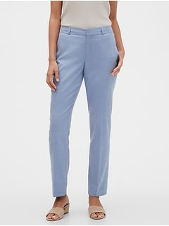 Washable Curvy Ryan Chambray Suit Pant