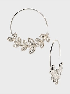 Leaf Garland Hoop Earrings